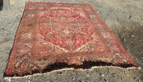 Persian Carpet With Red Field