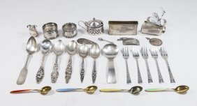 30 Pieces Of Sterling & 950 Silver