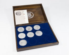 Lot Of 7 Pure Silver Salvador Dali Medallions