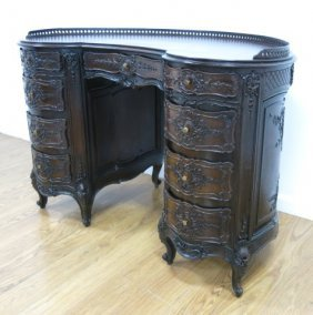 French Style Carved Desk