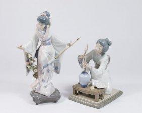 "Lladro ""teruko"" & Geisha Arranging Flowers"