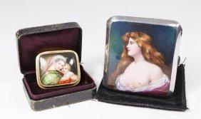Cigarette Case & Brooch