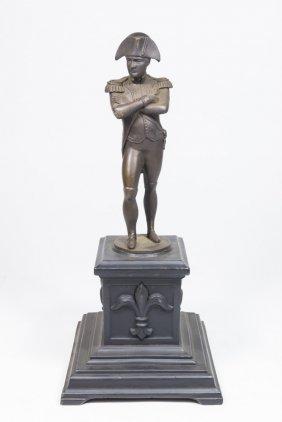 Bronze Napoleon On Metal Stand