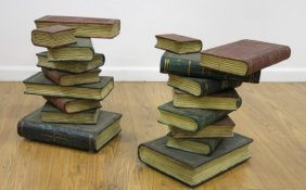 2 Book-form Pedestals