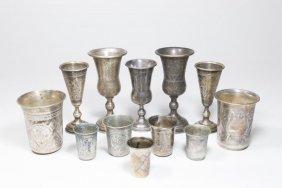 12 Silver Kiddush Cups