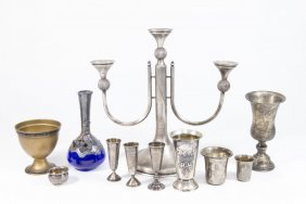 Lot Of Judaica Silver Pieces