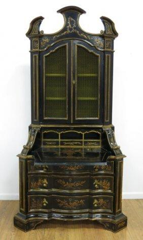 Italian Rococo Style Chinoiserie Secretary