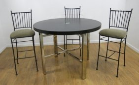 Contemporary Breakfast Table With 3 Chairs