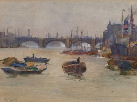 "Margaret J. Lovell, ""the Thames Near Cannon Street"""