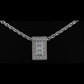 18k White Gold, 0.58ct Diamond Pendant