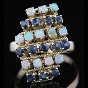 18k Yellow Gold 0.91ct Sapphire Ring