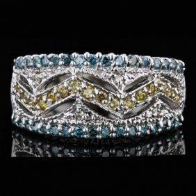 14k White Gold 0.04ct Diamond Ring