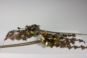 Pair Of Gilt Hairpin