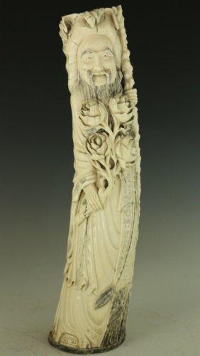 Bone Carved Shou Figure