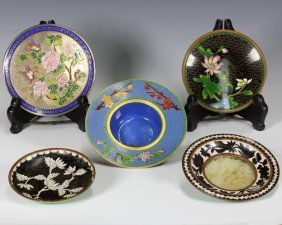 Group Of Five Small Cloisonne Plate