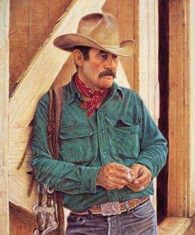 12 M C Poulsen Quot Wally Mcrae Cowboy Poet Quot Lot 12