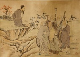 Chinese Scroll Painting Attributed To You Qiu
