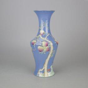 Chinese Blue Underglazed Porcelain Vase