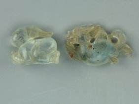 Two Chinese Crystal Carvings