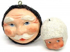 (2) CHRISTMAS ORNAMENTS