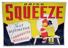 SQUEEZE SODA POP SIGN