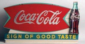 C.1963 Coca-Cola Wood Cutout 3-D Counter Sign