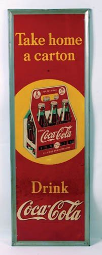 1940 Coca-Cola Tin Sign