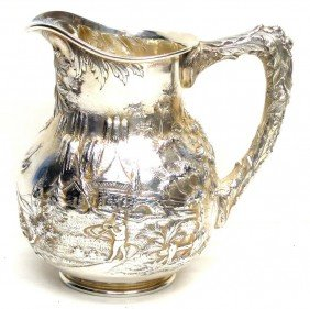 KIRK STERLING SCENIC PITCHER