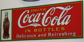 1931 COCA-COLA EMBOSSED TIN SIGN