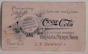 1890'S COCA-COLA COUPON