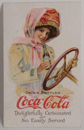 1911 COCA-COLA MOTOR GIRL POSTCARD