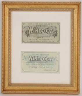 CIRCA 1880'S FRENCH WINE COCA FREE DRINK COUPON