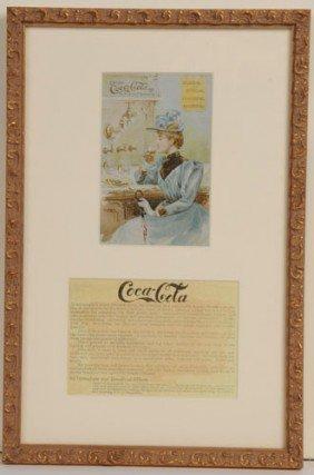 CIRCA 1892 COCA-COLA TRADE CARD