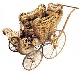 Wicker Baby Stroller
