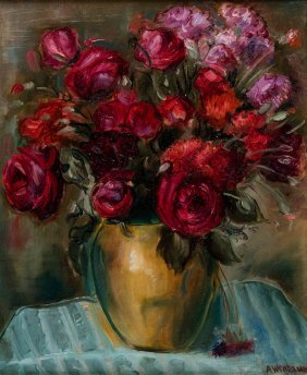 Red Flowers - Abraham Wenbaum