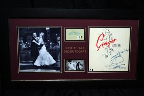 Fred Astaire & Ginger Rogers Signed Cut & Program Cover