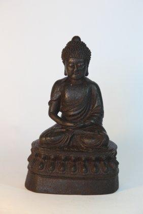 Chinese Iron Cast Buddha Ming Style