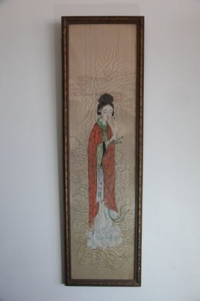 Chinese Scroll Hand Painting Figures