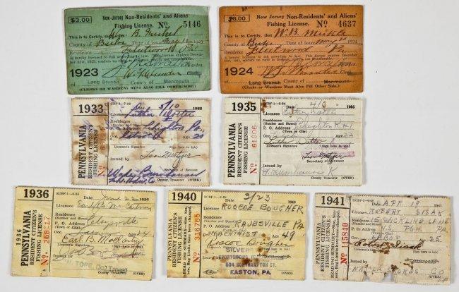 2 nj non resident 5 pa resident fishing licenses lot 458 for Pa fishing licenses