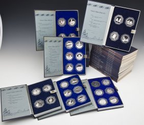 Franklin Mint Indian Tribes .999 Silver Medallions