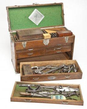Early 20th C Craftsman Tool Box W/ Tools