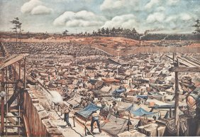 The Andersonville Stockade Lithograph By Klapp