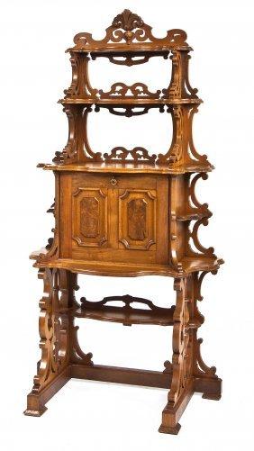 Victorian Renaissance Revival Parlor Desk
