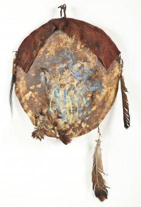 Plains Buffalo Rawhide War Shield