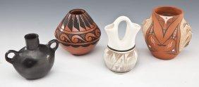 4 Pcs Native American Pottery