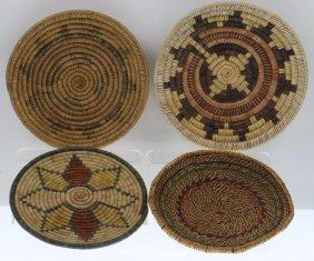 Four Southwest Basketry Trays