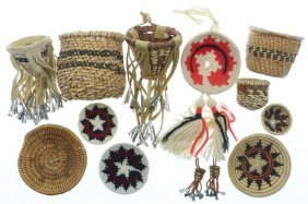 Collection Of Southwest Miniature Basketry Items