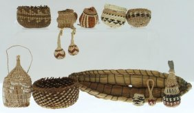 Collection Of Northern California Basketry Miniatures