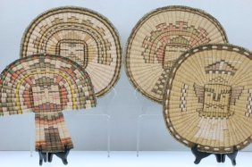Four Hopi Wicker Items