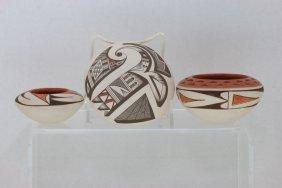 Three Pueblo Polychrome Vessels